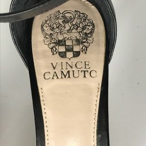 Vince Camuto Shoes - Vince Camuto Black Leather Strap Heels SH0904